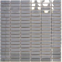Mosaico 15/48mm in Metallo Acciaio lucido