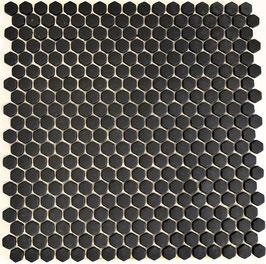 Mosaico Kuba ESAGONI 15mm NERO