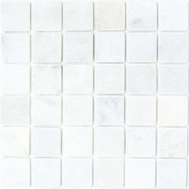 Mosaico Marmo 48mm Bianco Carrara anticato