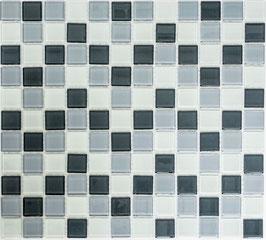 Mosaico CRYSTAL MIX ANTRACITE Vetro lucido