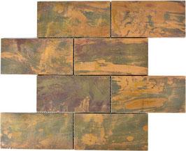 Mosaico Muretto in Metallo Rame 75/105mm