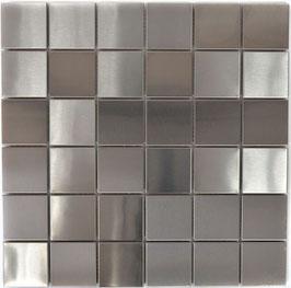 Mosaico 48mm in Metallo Acciaio satinato