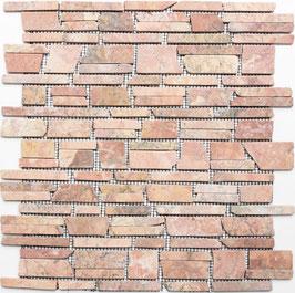 Mosaico Muretto Marmo Rosso Verona Big anticato