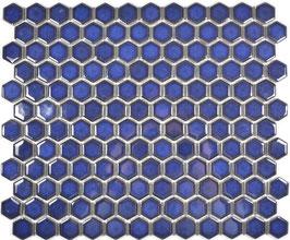 Mosaico Esagoni BLU COBALTO LUC