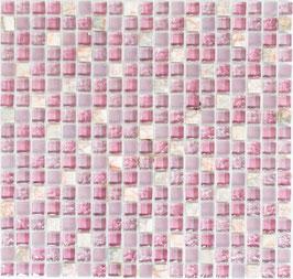 Mosaico Marmo Vetro 15mm Natural Mix LIlla