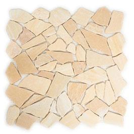 Mosaico Palladiana Marmo Giallo Rosato