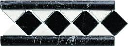 Amalfi Nero Marquinia - Bianco Carrara 8x20