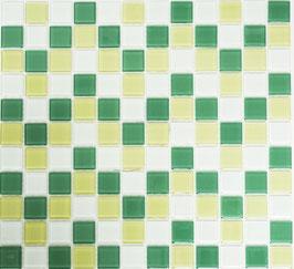 Mosaico CRYSTAL MIX VERDE BIANCO Vetro lucido