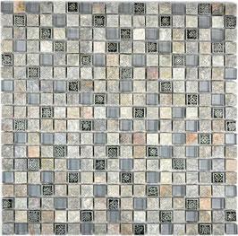 Mosaico Marmo Vetro 15mm Symbol Grey