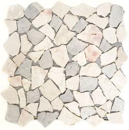 Mosaico Palladiana Marmo Mix Grigio Botticino