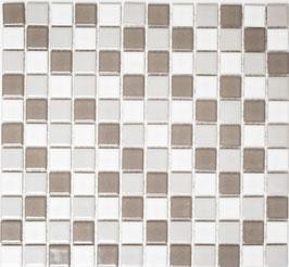 Mosaico Classica MIX BIANCO GRIGIO LUCIDO