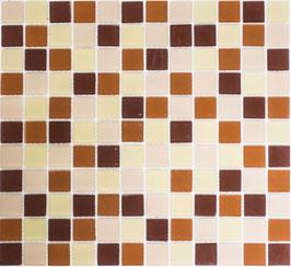 Mosaico CRYSTAL MIX BROWN Vetro mat