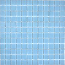 Mosaico AZZURRO Vetro Trasparente lucido