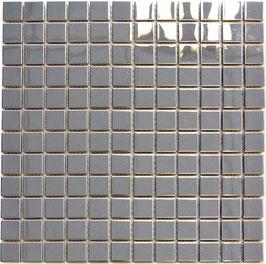 Mosaico 23mm in Metallo Acciaio lucido
