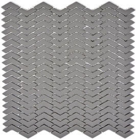 Mosaico Kuba ZIGZAG 10/45 mm GRIGIO