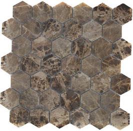 Mosaico Esagono 48mm Emperador lucido