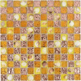 Mosaico vetro 23mm Conchiglia Rame