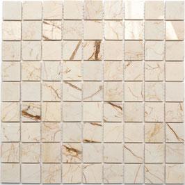 Mosaico Marmo 32mm Golden Cream lucido