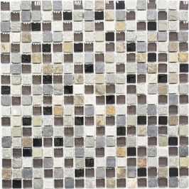 Mosaico Marmo Vetro 15mm Natural Slate