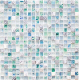 Mosaico Marmo Vetro 15mm Natural Green