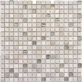 Mosaico Marmo Vetro Metallo 15mm London Metal15