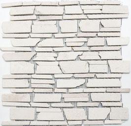Mosaico Muretto Marmo Biancone Big anticato