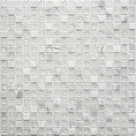 Mosaico Marmo Vetro 15mm Cub Neve