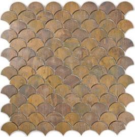 Mosaico in Metallo Rame Ventaglio