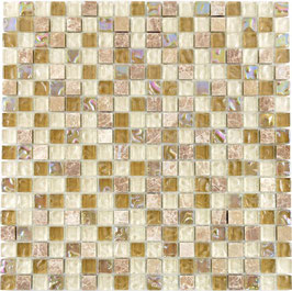 Mosaico Marmo Vetro 15mm Natural Yellow