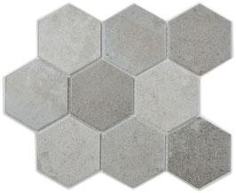 Mosaico RETRO ESAGONALE CEMENTO 10x10 cm