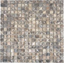 Mosaico Marmo 15mm Emperador anticato