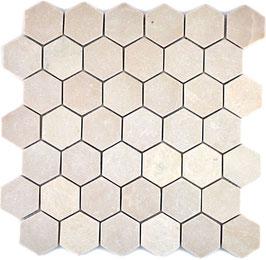 Mosaico Esagono 48mm Botticino