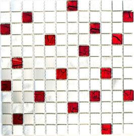 Mosaico 23mm in Alluminio Mix Rosso