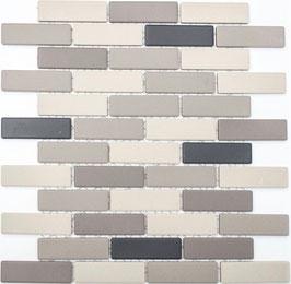 Mosaico Ruvido MIX BEIGE MATTONCINO non smaltato