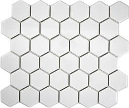 Mosaico Esagoni medi BIANCO LUC