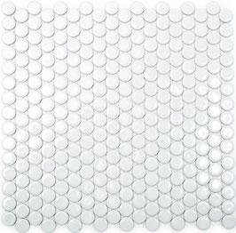 Mosaico Bottone BIANCO LUC