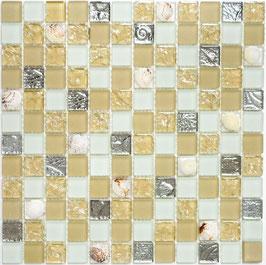 Mosaico vetro 23mm Conchiglia Giallo