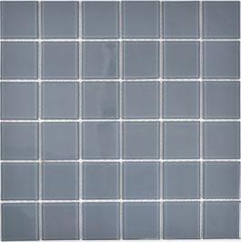 Mosaico 48mm GRIGIO Vetro Trasparente lucido
