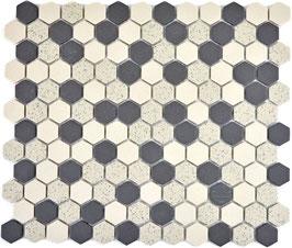 Mosaico Esagoni 23/26 SALE PEPE  MIX ANTISCIVOLO opaco
