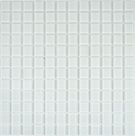 Mosaico BIANCO Vetro Trasparente lucido