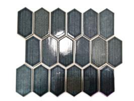 Mosaico Japan ESAGONO LONG Nero lucido