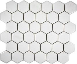 Mosaico Esagoni 51/59 Bianco ANTISCIVOLO opaco
