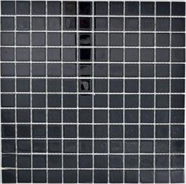 Mosaico NERO Vetro Trasparente semilucido