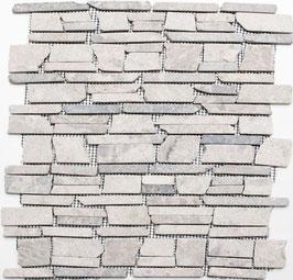 Mosaico Muretto Marmo Grigio Big anticato