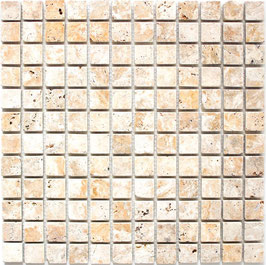 Mosaico Marmo 23mm Travertino Gold anticato