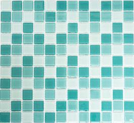 Mosaico CRYSTAL MIX ACQUAMARINA Vetro lucido