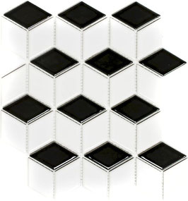 Mosaico Rombo SCACCHI BIANCO OPACO