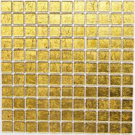 Mosaico Foglia 23mm Oro