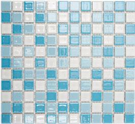 Mosaico Classica MIX BIANCO BLU LUCIDO