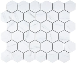 Mosaico Esagoni medi BIANCO CARRARA